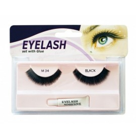Gene false cu adeziv - M34 - Eyelash set with glue