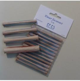 Bigudiuri din lemn pentru permanent - 12buc - 8mm