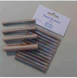 Bigudiuri din lemn pentru permanent - 12buc - 12mm