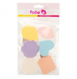 Eurostil - Pollie - Set burete pentru fond de ten - 6buc - 02674