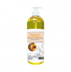 SalonShop - Ulei de masaj - Modelare corporala - Portocale si Scortisoara - 1000 ml