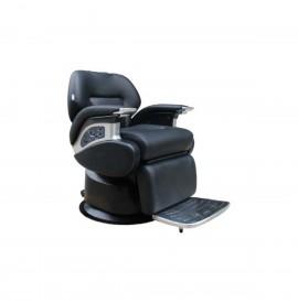 Salonshop - Scaun hidraulic pentru frizerie - Negru cu motor