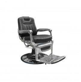 Salonshop - Scaun hidraulic pentru frizerie - Negru cu maner argintiu