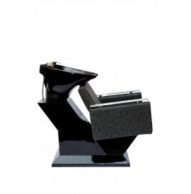 Salonshop - Unitate de spalare - GRI INCHIS cu vas negru - scafa