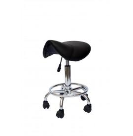 Salonshop - scaun ucenic pentru coafura/frizerie - negru