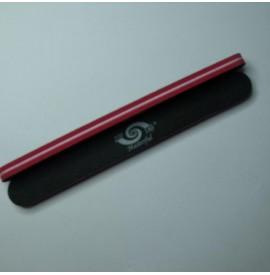 Alfa nails pila burete negru cu rosu - 100/180