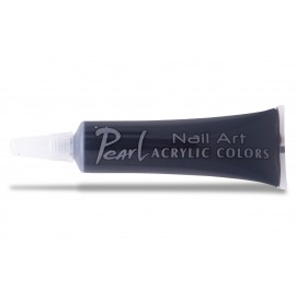 Vopsele acrilice - 201 negru fildes - 9 ml - pearl nails