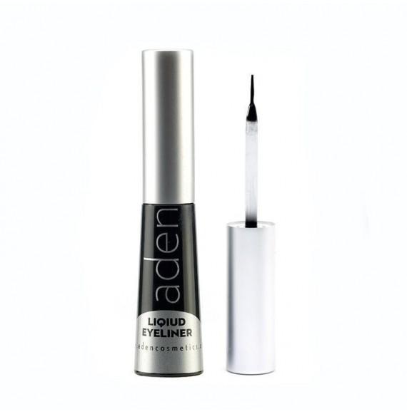 Tuş cu pensulă - negru - Liquid Eyeliner -  Aden Cosmetics