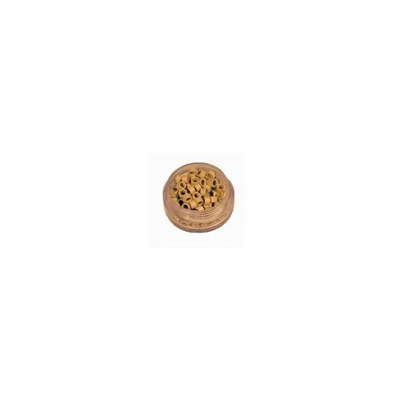 Mikro inel cu silicon - Blond - 4.5 mm - 100 buc