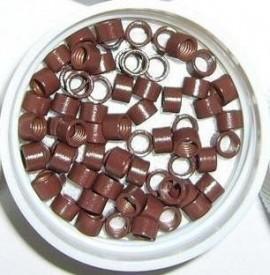Mikro inel simplu - Maro deschis 4.5 mm - 100 buc