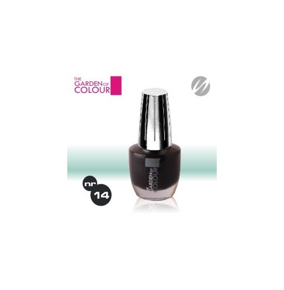Lac de unghii - nr.14 - Negru - Black - The garden of color