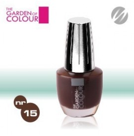 Lac de unghii - nr.15 - ciocolata inchis - dark chocolate - the garden of color