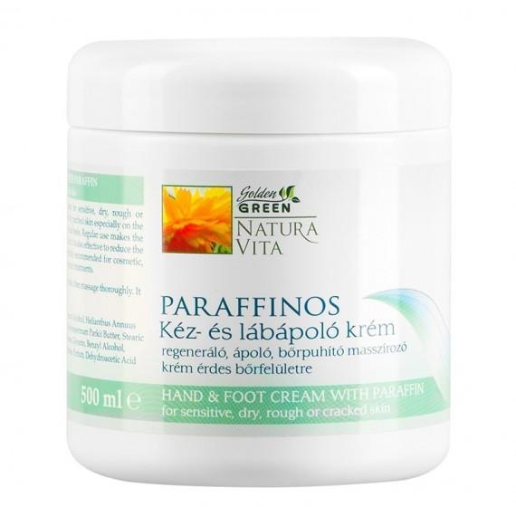 Cremă cu parafină - îngrijirea mâinilor şi picioarelor - 500 ml