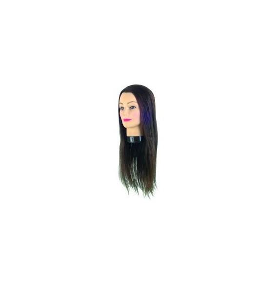 Cap de papusa cu par natural (50 cm) - Eurostil - 0060