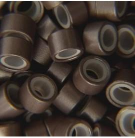 Mikro inel cu silicon - Negru - 4.5 mm - 100 buc