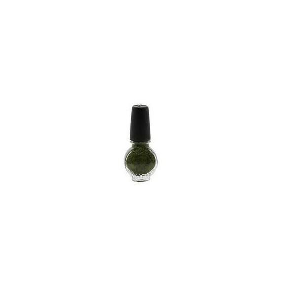 Konad - Oja pentru set stampila - Verde kaki sidef - 10 ml