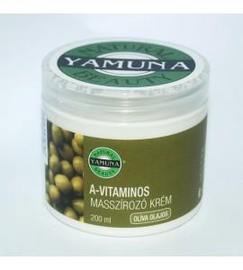 Yamuna - crema de masaj cu vitamina a si ulei oliva - 200 ml