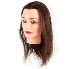 Eurostil - cap de papusa cu par natural - 35-40 cm - 00624