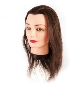 Eurostil - Cap de papusa cu par natural - 40 cm - 00624