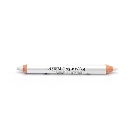 Creion dublu gros pentru ochi - white/white - Aden cosmetics