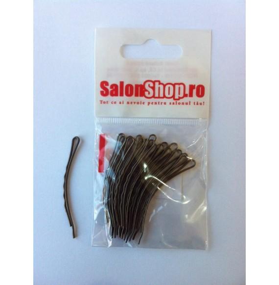 Salonshop- Agrafe curbate maro 5cm, 20 buc