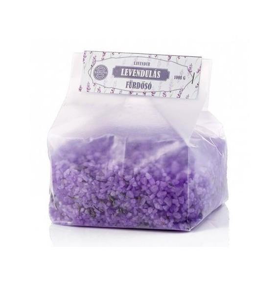 Sare de baie relaxant cu lavandă şi lămâie - 1000 gr