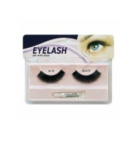 Gene false cu adeziv - M16 - Eyelash set with glue