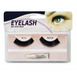 Gene false cu adeziv - M12 - Eyelash set with glue