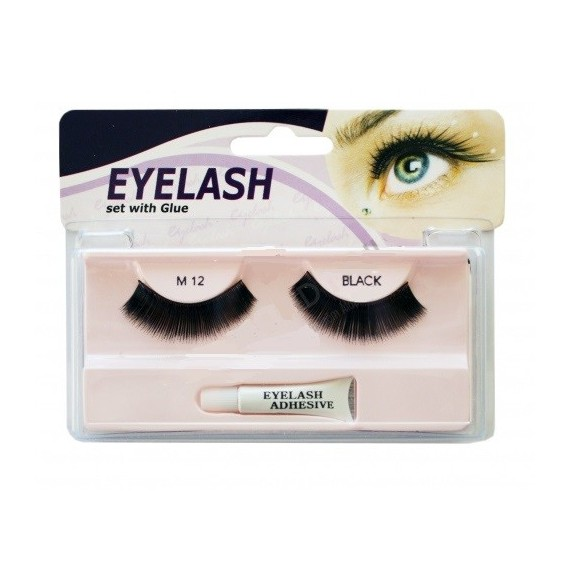 Gene false cu adeziv - M12 - Eyelash set with glue