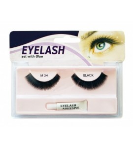 Gene false cu adeziv - M34 - Eyelash set with glue