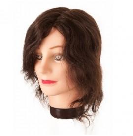 Eurostil cap de papusa par natural cu suport - 20-30cm - 01455