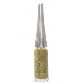 Moyra - Lac decor cu pensula subtire - Auriu cu sclipici - 8 ml