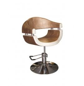Stella - Scaun pentru coafor - crem/auriu - SX-2107