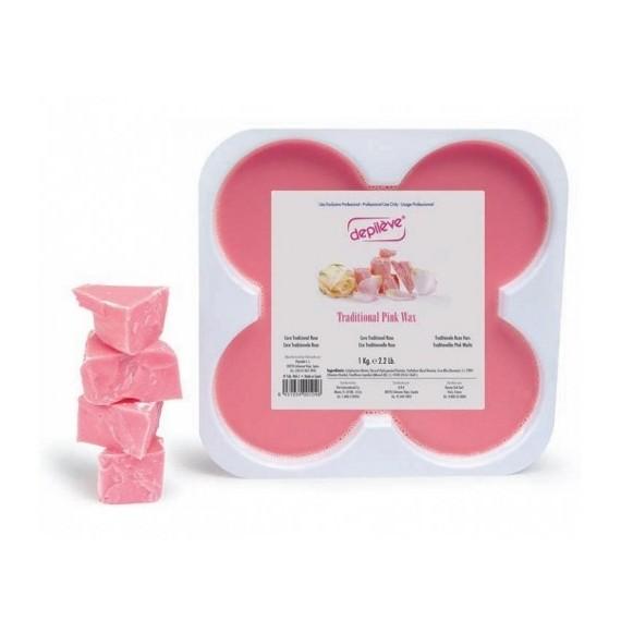 Depileve - Ceara pentru epilare roz - Traditional Pink Wax - 500gr